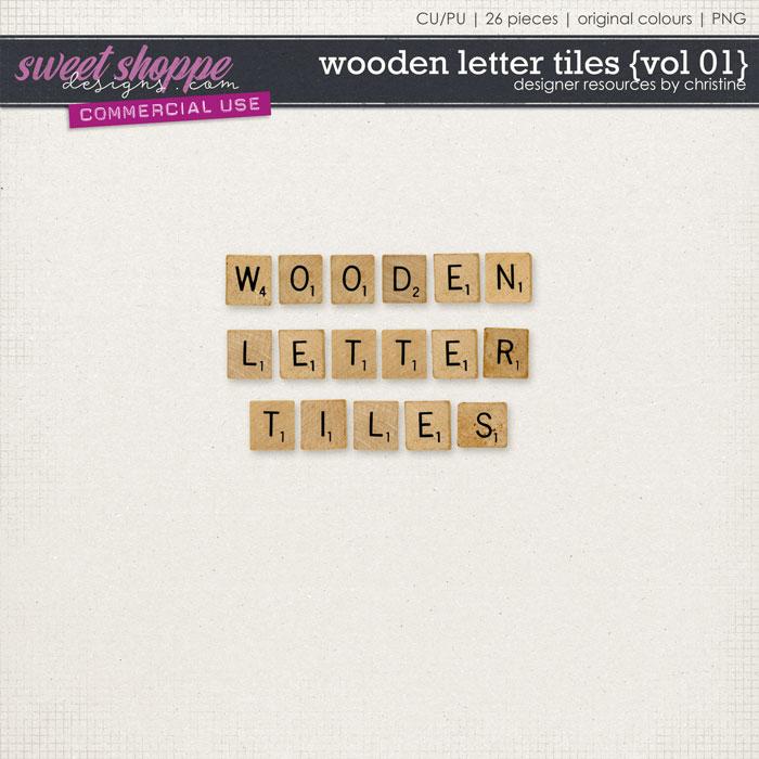 Wooden Letter Tiles {Vol 01} by Christine Mortimer