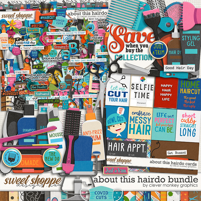 About this Hairdo Bundle by Clever Monkey Graphics