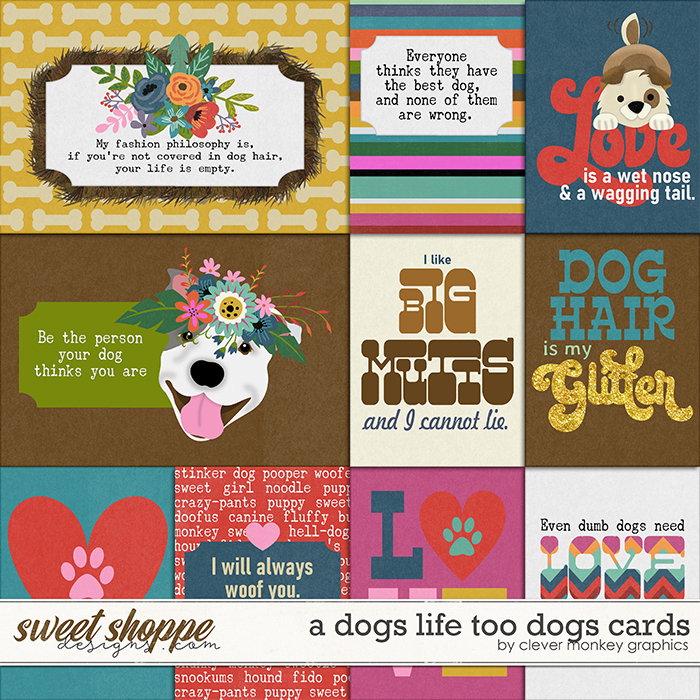 A Dog's Life Too Cards by Clever Monkey Graphics