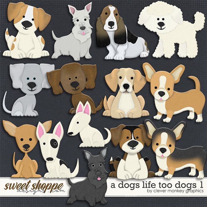 A Dog's Life Too Dogs1 by Clever Monkey Graphics