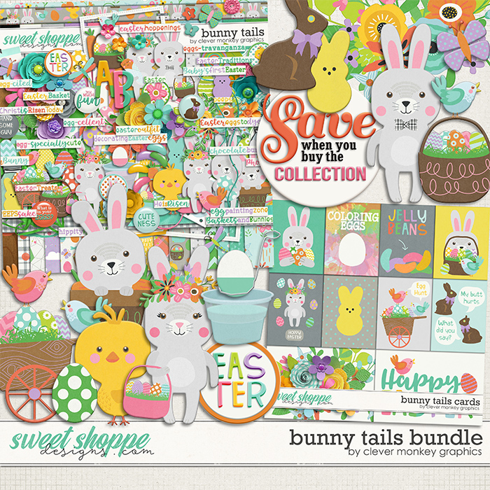Bunny Tails Bundle by Clever Monkey Graphics