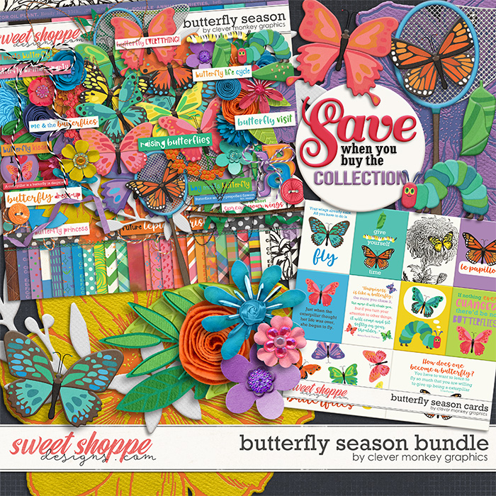 Butterfly Season Bundle by Clever Monkey Graphics