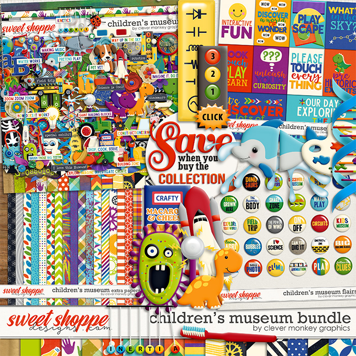 Children's Museum Bundle by Clever Monkey Graphics
