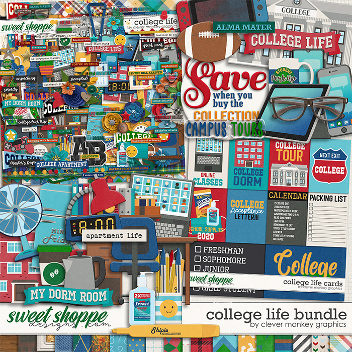 College Life Bundle by Clever Monkey Graphics