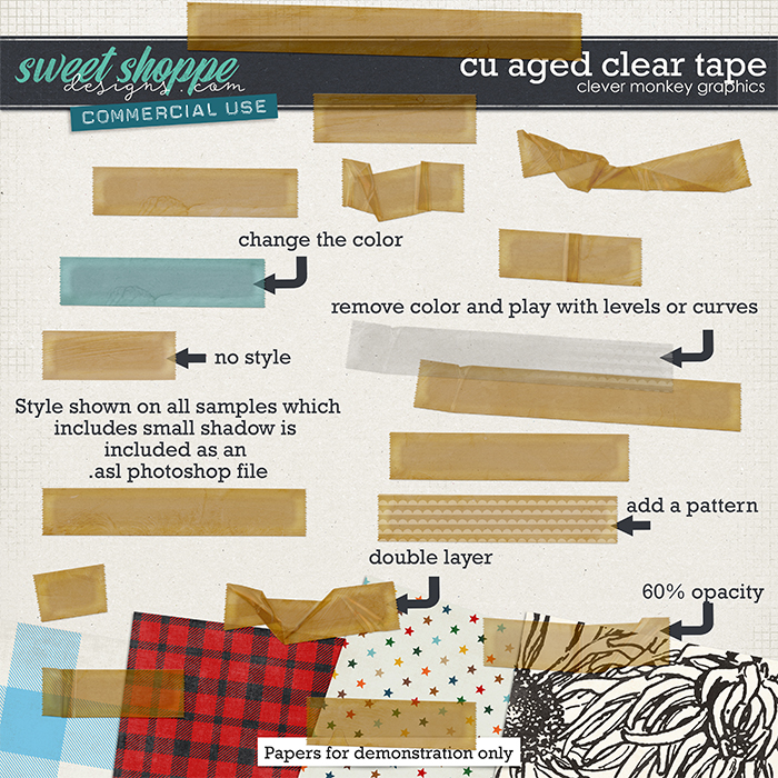 CU Aged Clear Tape by Clever Monkey Graphics