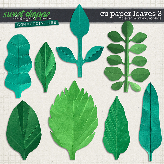 CU Paper Leaves 3 by Clever Monkey Graphics