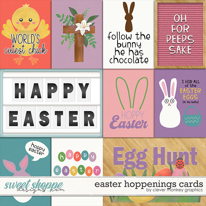 Easter Hoppenings Cards by Clever Monkey Graphics