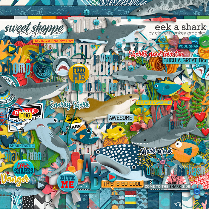 Eek a Shark by Clever Monkey Graphics