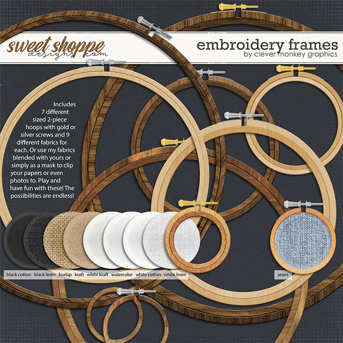 Embroidery Frames by Clever Monkey Graphics