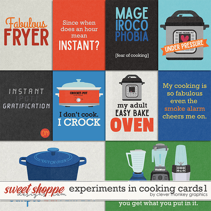 Experiments in Cooking Cards1 by Clever Monkey Graphics