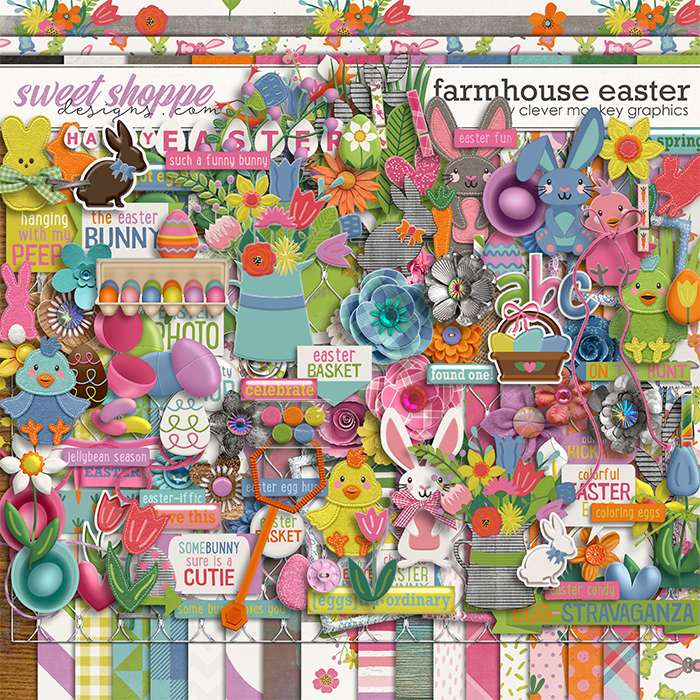 Farmhouse Easter by Clever Monkey Graphics