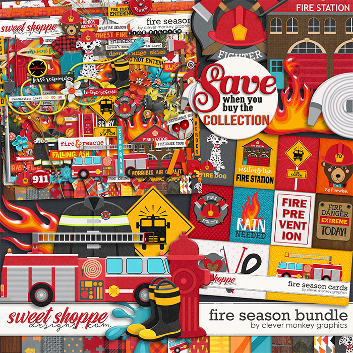 Fire Season Bundle by Clever Monkey Graphics