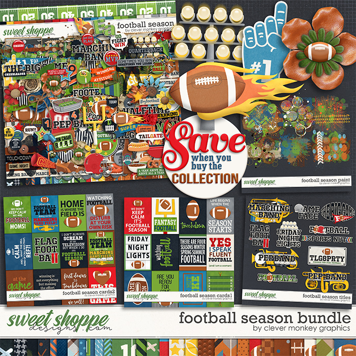 Football Season Bundle by Clever Monkey Graphics