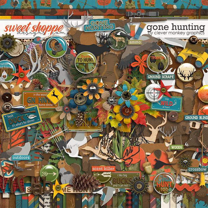 Gone Hunting by Clever Monkey Graphics