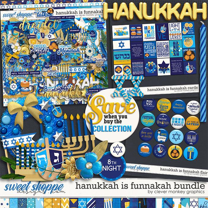 Hanukkah is Funnakah Bundle by Clever Monkey Graphics