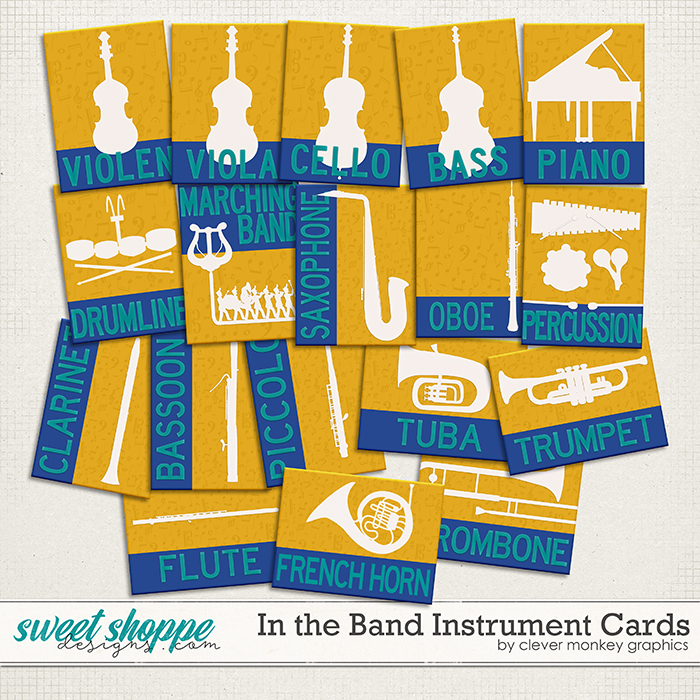 In the Band Instrument Cards by Clever Monkey Graphics
