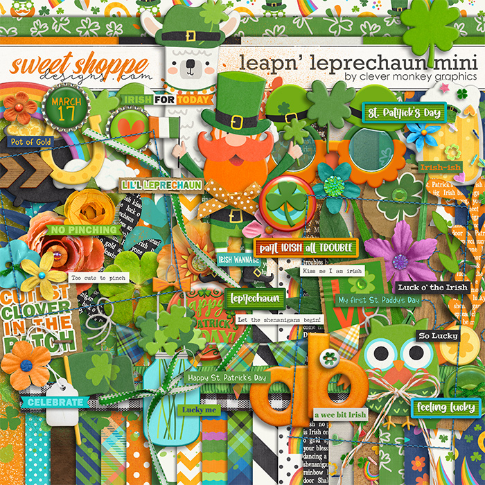 Leapn' Leprechaun Mini by Clever Monkey Graphics