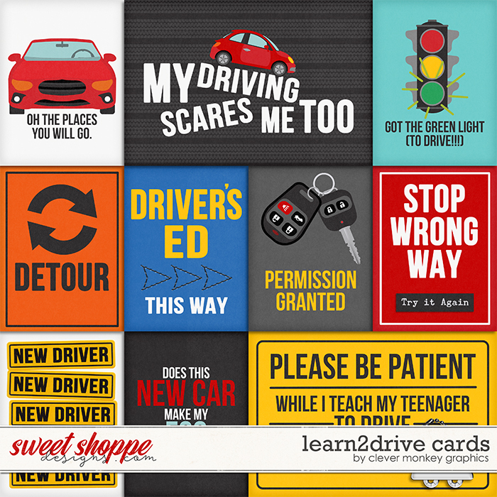 Learn2Drive Cards by Clever Monkey Graphics