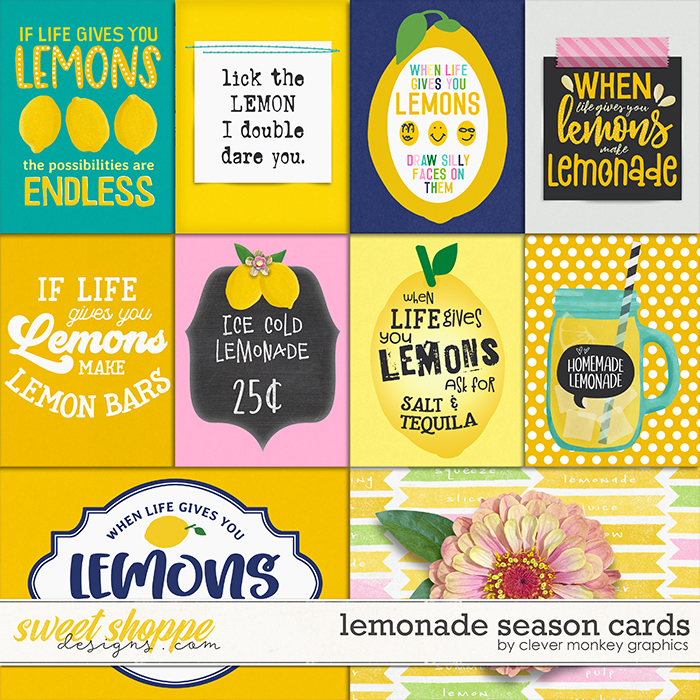 Lemonade Season Cards by Clever Monkey Graphics