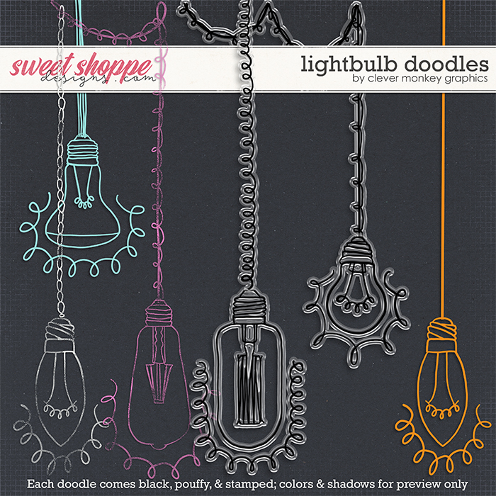 Lightbulb Doodles by Clever Monkey Graphics