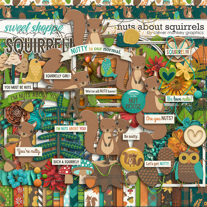 Nuts about Squirrels by Clever Monkey Graphics