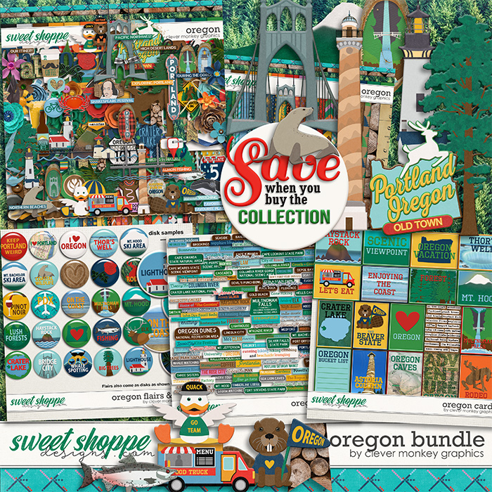 Oregon Bundle by Clever Monkey Graphics