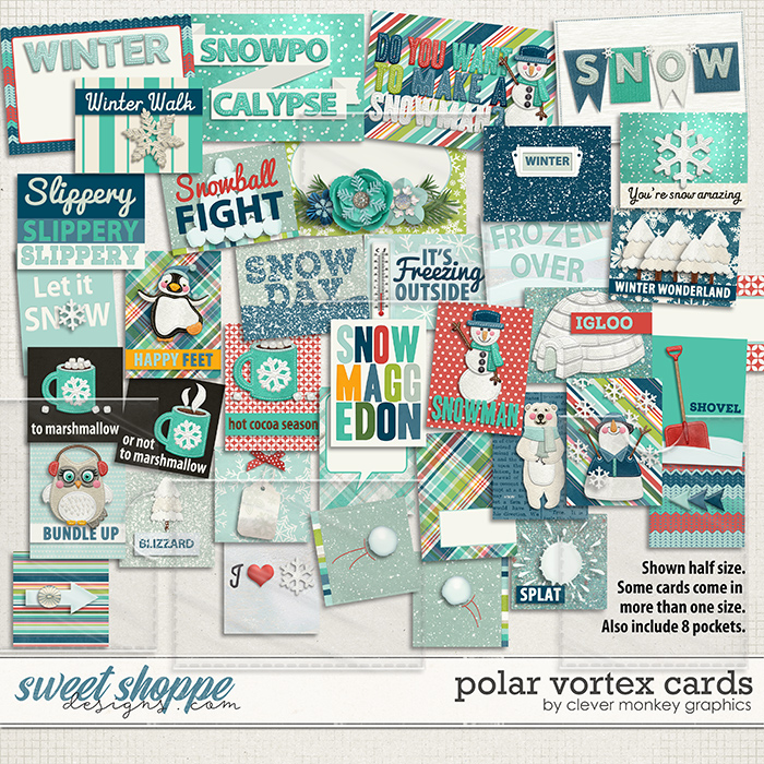 Polar Vortex Cards by Clever Monkey Graphics