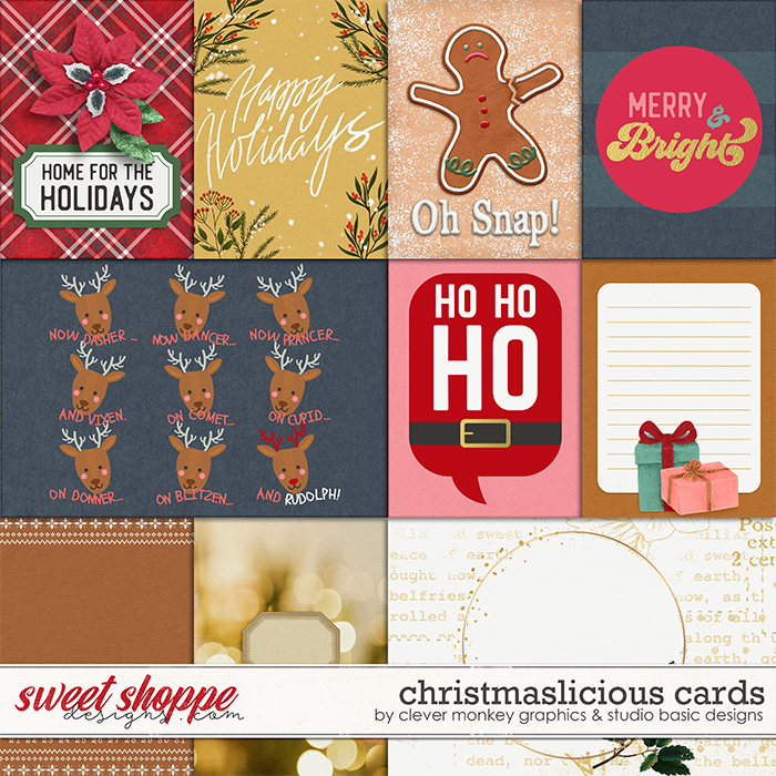 Christmaslicious Cards by Clever Monkey Graphics and Studio Basic Designs