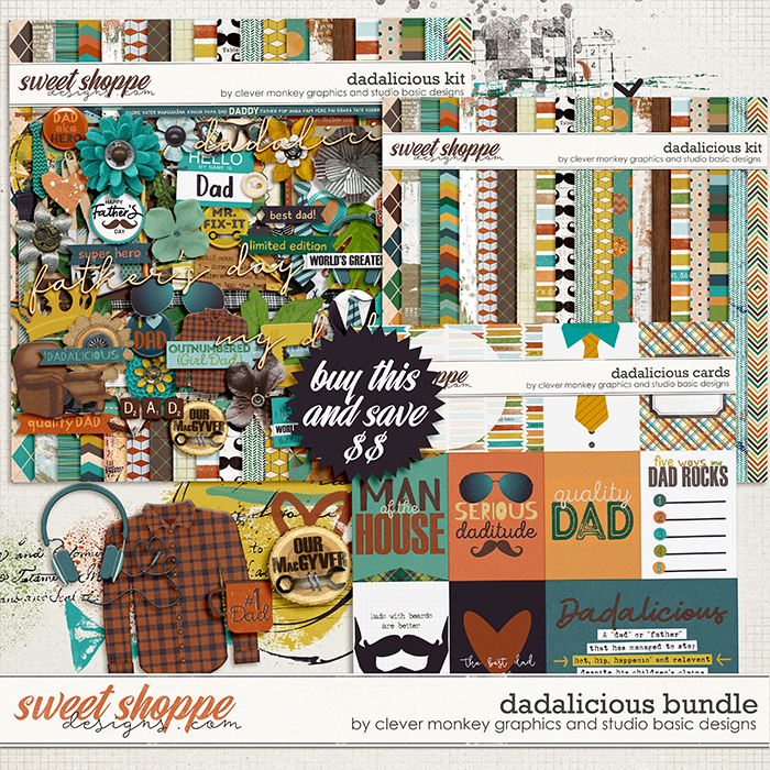Dadalicious Bundle by Clever Monkey Graphics and Studio Basic Designs