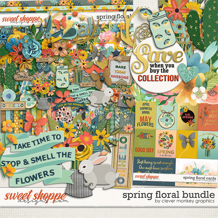 Spring Floral Bundle by Clever Monkey Graphics