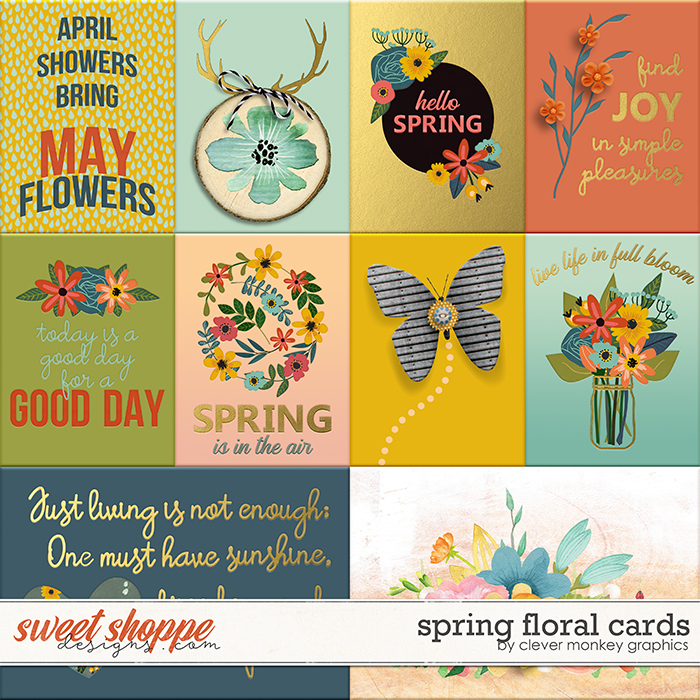 Spring Floral Cards by Clever Monkey Graphics