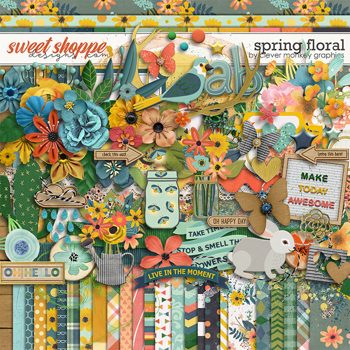 Spring Floral by Clever Monkey Graphics