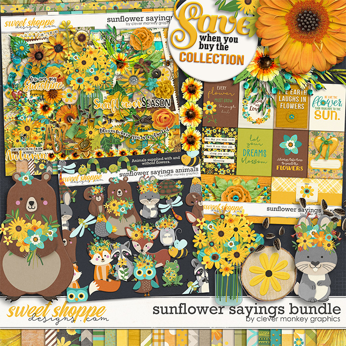 Sunflower Sayings Bundle by Clever Monkey Graphics