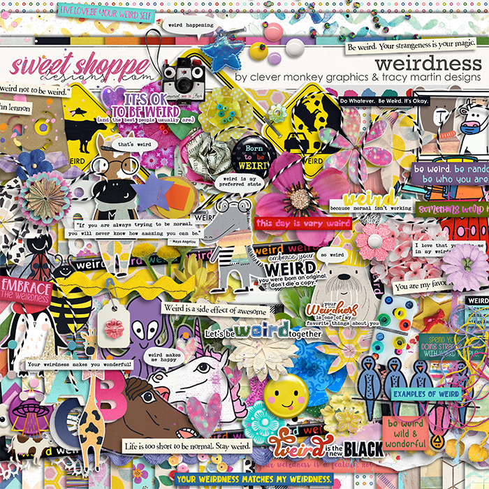 Weirdness by Clever Monkey Graphics & Tracy Martin Designs