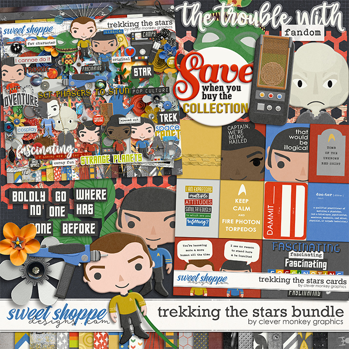 Trekking the Stars Bundle by Clever Monkey Graphics