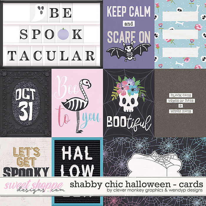 Shabby Chic Halloween Cards by Clever Monkey Graphics & WendyP Designs