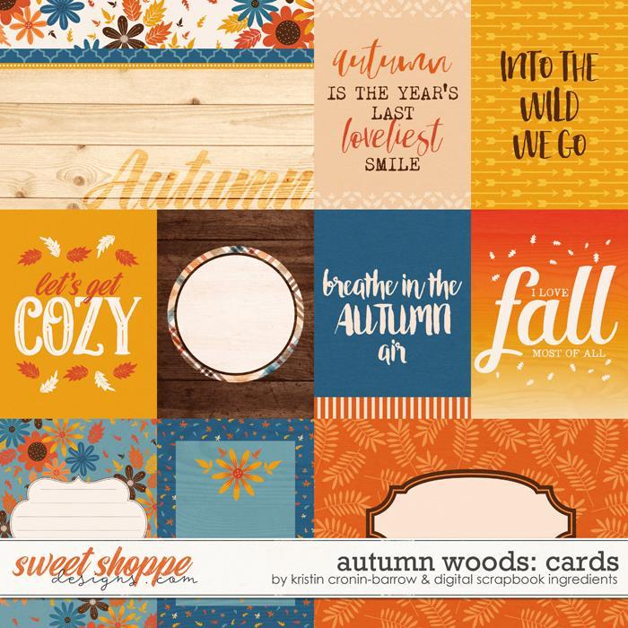Autumn Woods | Cards by Kristin Cronin-Barrow & Digital Scrapbook Ingredients
