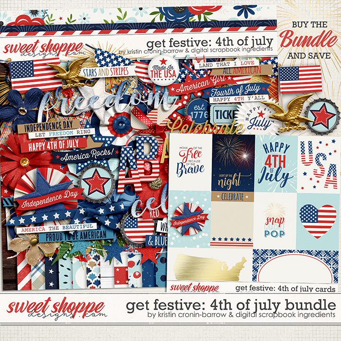 Get Festive: 4th Of July Bundle by Kristin Cronin-Barrow & Digital Scrapbook Ingredients