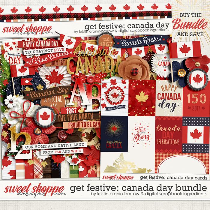 Get Festive: Canada Day Bundle by Kristin Cronin-Barrow & Digital Scrapbook Ingredients