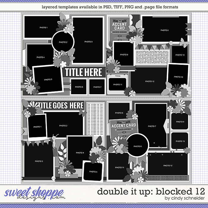 Cindy's Layered Templates - Double It Up: Blocked 12 by Cindy Schneider