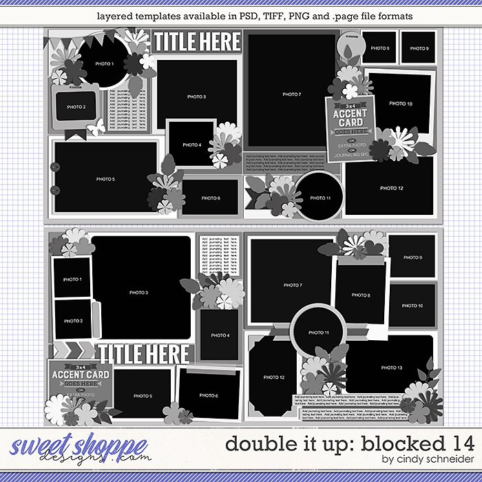 Cindy's Layered Templates - Double It Up: Blocked 14 by Cindy Schneider