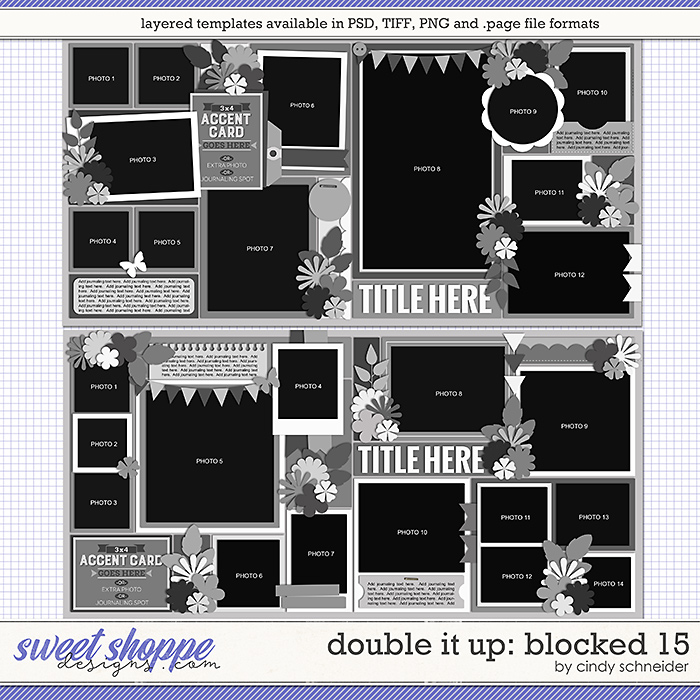 Cindy's Layered Templates - Double It Up: Blocked 15 by Cindy Schneider