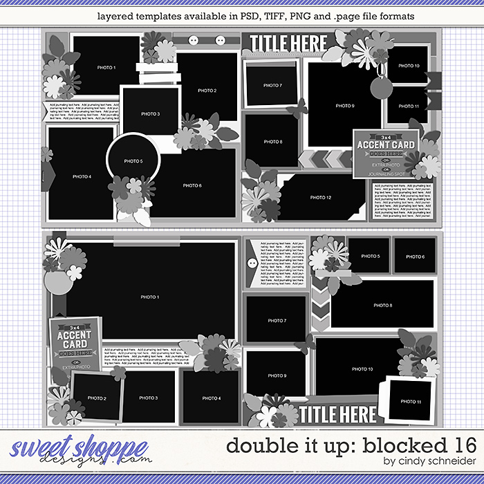 Cindy's Layered Templates - Double It Up: Blocked 16 by Cindy Schneider