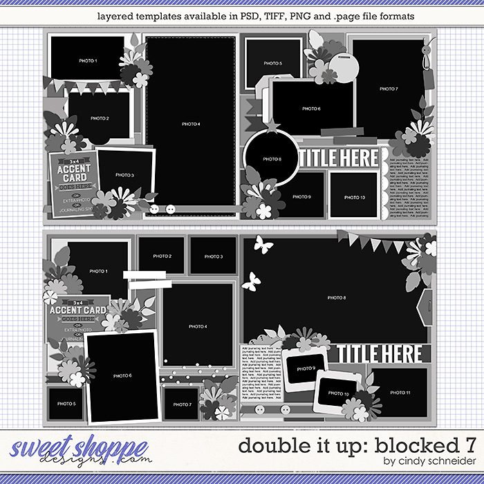 Cindy's Layered Templates - Double It Up: Blocked 7 by Cindy Schneider