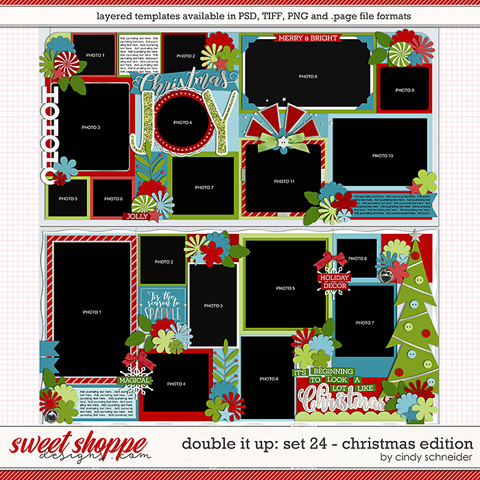 Cindy's Layered Templates - Double It Up Set 24: Christmas Edition by Cindy Schneider
