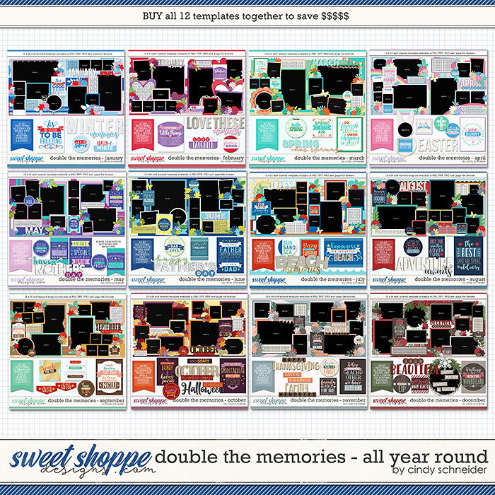 Cindy's Layered Templates - Double the Memories: All Year Round by Cindy Schneider