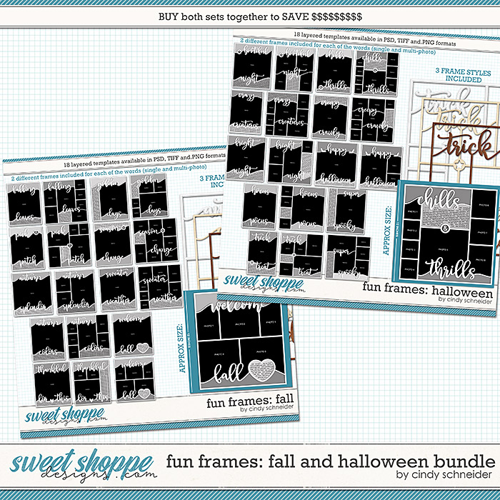 Cindy's Layered Templates - Fun Frame Fall & Halloween Bundle by Cindy Schneider