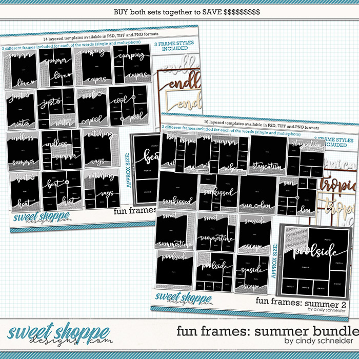 Cindy's Layered Templates - Fun Frames Summer Bundle by Cindy Schneider