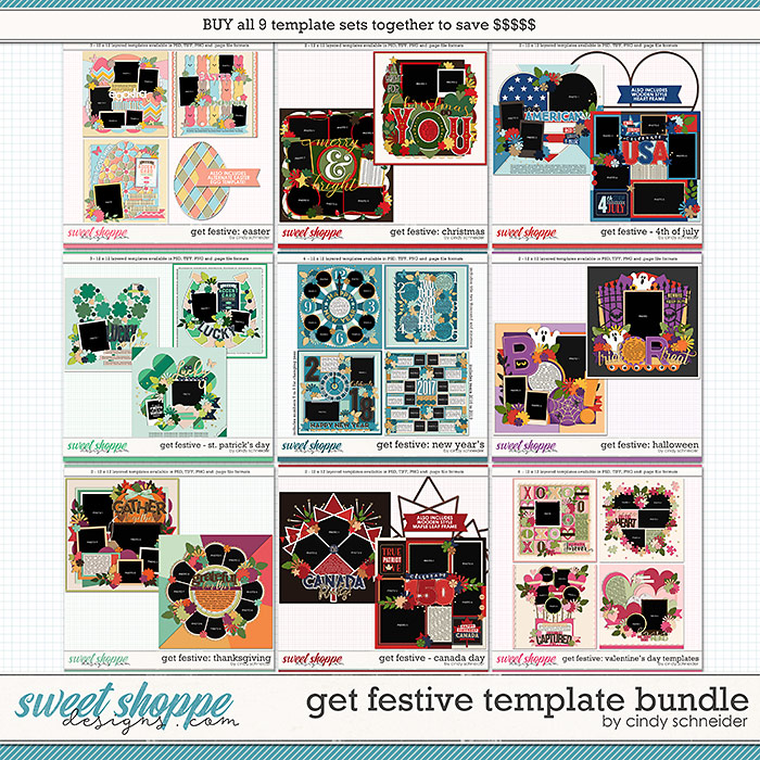 Cindy's Layered Templates - Get Festive Bundle by Cindy Schneider
