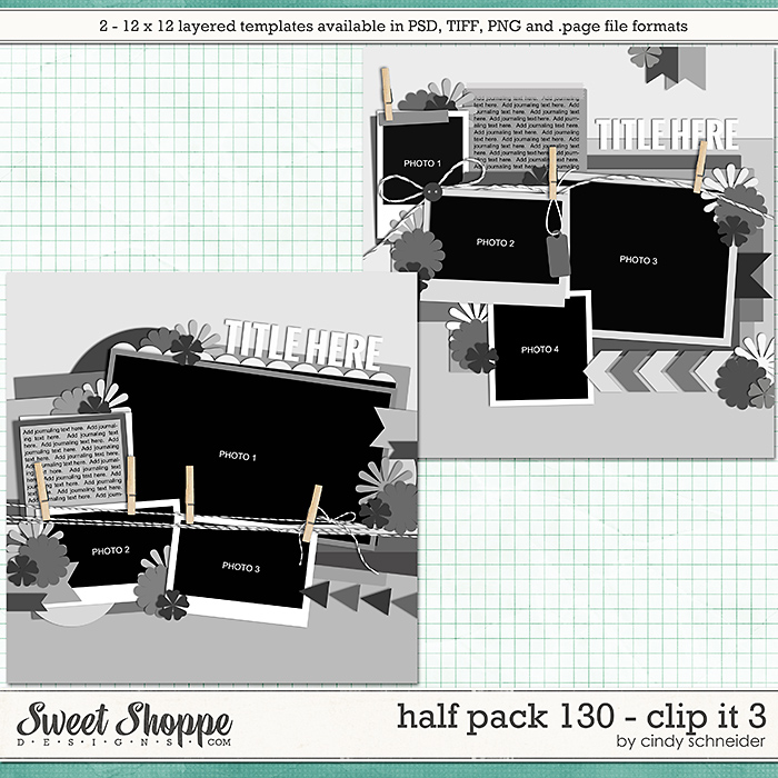 Cindy's Layered Templates - Half Pack 130: Clip It 3 by Cindy Schneider